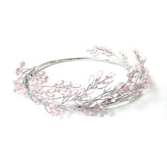 Hey, I found this really awesome Etsy listing at https://www.etsy.com/listing/183027522/pink-beaded-head-crown-head-wreath-pink