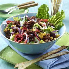 Feuriger Tortilla-Salat mit Mais Rezept | LECKER