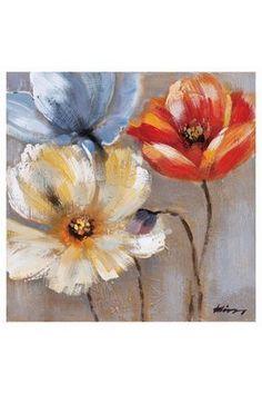 "32""H x 32""W Amaryllis Painting On Canvas"