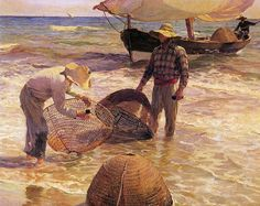 Joaquin Sorolla y Bastida Valencian Fisherman painting is shipped worldwide,including stretched canvas and framed art.This Joaquin Sorolla y Bastida Valencian Fisherman painting is available at custom size. Frank Stella, Spanish Painters, Spanish Artists, Winslow Homer, Claude Monet, Love Painting, Painting & Drawing, Nautical Painting, Georges Braque