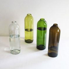Glass water or wine carafe cut and finished off by hand from reclaimed wine bottles. - polkapics.net