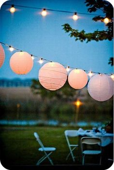 Lanterns & twinkly lights.