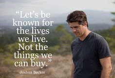 Becoming Minimalist inspires others to journey towards simple living. Own less, live more. Minimal Living, Simple Living, Quotes To Live By, Life Quotes, Living Quotes, Joshua Becker, Becoming Minimalist, Way Of Life, True Words