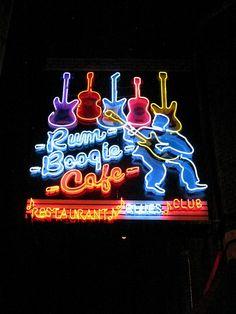 Rum Bogie Cafe on Beale Street in Memphis, TN.  Photo by John Dreyer.
