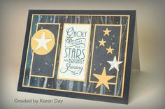 Card by Karen Day using Peace on Earth from Verve Stamps.  #vervestamps