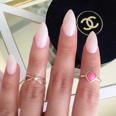 Natural stiletto nails