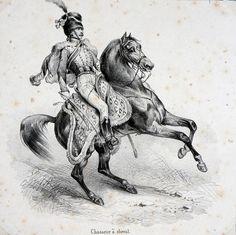 chasseur a cheval planche Victor Adam
