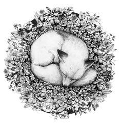 Sleeping in Flowers Art Print                                                                                                                                                      More