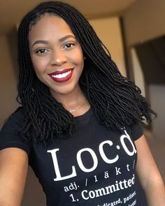 3 Reasons You Should Go Natural With Sisterlocks Box Braids Hairstyles, Dreadlock Hairstyles, African Hairstyles, Short Hairstyles, Updo Hairstyle, Short Haircuts, Sisterlocks, Scene Hair, Thin Dreads