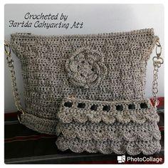 Shades of grey bags - Crochet creation by Farida Cahyaning Ati