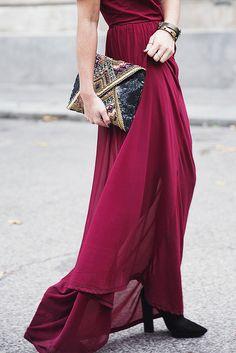 Clutch + dress