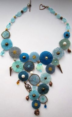 Embroidered necklaces by Alina Limonova