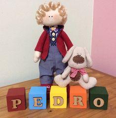Conjunto Boneco Pedro + cubos
