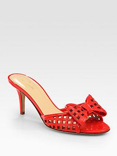 Kate Spade New York Maylin Cutout Patent Leather Bow Sandals