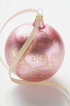 Pink and gold Christmas ornament