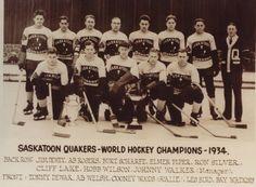 Saskatoon Quakers - World Ice Hockey Champions - 1934