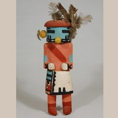 This is an exceptional Hopi Tasap Katsina doll carved from a piece of cottonwood root. Tasap is a Hopi representation of a Navajo God. There are Hopi versions of katsinam that honor and depict other tribes, such as the Navajo, Havasupai, Comanche, Zuni and other Pueblos.