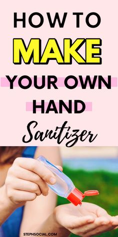 How to make your own hand sanitizer with alcohol, aloe vera and essential oils! Prevent the spread of germs with this DIY hand sanitizer! Aloe Vera, Make Your Own, Make It Yourself, How To Make, Natural Hand Sanitizer, Hand Sanitizer Holder, Gel Aloe, Disinfectant Spray, Thing 1