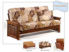 Full Size Raindrop Premium Wood Futon Bed Package by Night & Day