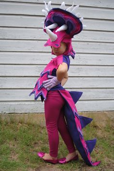 Custom Designed 3 Color Triceratops Costume Pink by AlphabetCircus
