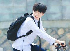 Imagine the both of you having a bike race after school