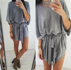 Summer Sexy Women Short Sleeve Party Evening Cocktail Casual Mini Dress