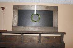 29x17 Reclaimed Wood Chalkboard by southernbellesign on Etsy