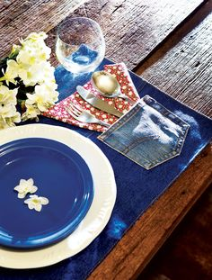 diy ideas recycling old jeans place mat back pocket cutlery