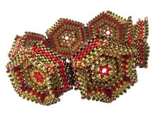 Contemporary Geometric Beadwork -upcoming Pattern book. Design by Nancy Jenner