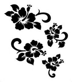 Image result for Hibiscus Flower Stencil