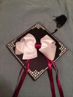Graduation cap decoration #tamu #graduation #college Graduation Cap Designs, Graduation Cap Decoration, Graduation Day, Graduation Pictures, Grad Pics, Senior Pictures, Giant Bow, Cap Ideas, Grad Parties