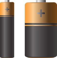 건전지 벡터 이미지입니다.   battery vector image