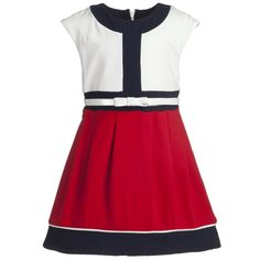 Red & White Cotton Dress - Girl | Childrensalon