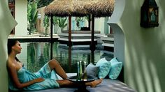 Relaxation after a full body massage treatment at spa lounge at Four Seasons Resort Langkawi Island, Malaysia