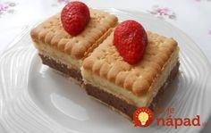 Fantastický nepečený dezert z BeBe keksov Biscuit Cookies, Waffles, Biscuits, Muffins, Cheesecake, Food And Drink, Cooking Recipes, Sweets, Baking