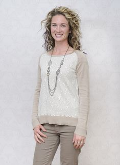 Beautiful Type 2 Anne is wearing the Snuggle Up Sweater and the Mountainside Necklace! Get Anne's look here: shopdyt.com