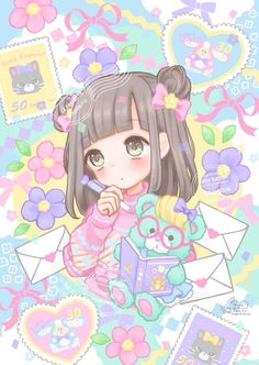 Kawaii art by manamoko #kawaii #anime #manamoko