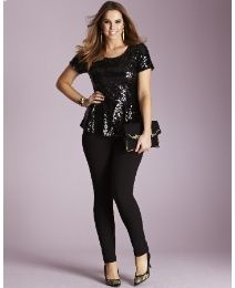 Sequin Peplum Blouse from SimplyBe. I LOVE this top! I don't know if it would look good on me, but I LOVE it.