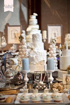 Beautiful cake table! WedLuxe Wedding Show 2012 via www.wedluxe.com