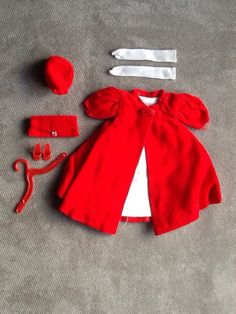 Vintage Original Mattel Barbie Doll (Red Flare) Outfit #0939 From 1962-1965