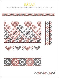 Semne Cusute: model de camasa din CRISANA, Salaj Folk Embroidery, Modern Embroidery, Embroidery Stitches, Embroidery Patterns, Cross Stitch Patterns, Machine Embroidery, Palestinian Embroidery, Antique Quilts, Embroidery Techniques