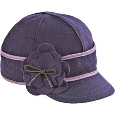 Stormy Kromer Mercantile Petal Pusher Cap ($45) ❤ liked on Polyvore featuring accessories, hats, cap hats, flower hat, stormy kromer cap, six panel hat and 6 panel hat