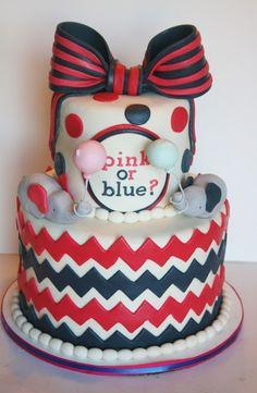 Pink or Blue Elephant Gender Reveal Cake - And Everything Sweet