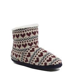 Heart Fairisle Knit Slipper Boots | Women | George at ASDA