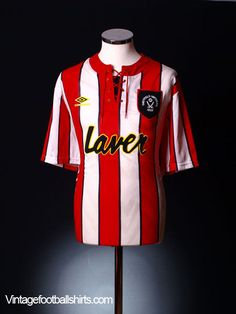 23d69f110d6 1992-94 Sheffield United Home Shirt XL Sheffield United Football, Club  Shirts, Football