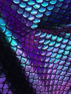 4 way stretch iridescent purple, green, gold and turquoise mermaid fish scales foil on poly spandex fabric sold by the yard