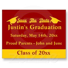 Graduation save the date cards graduation save the date shimmery graduation save the date cardinal and gold postcard filmwisefo
