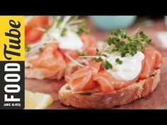 Smoked Salmon & Horseradish Canapes | Jamie Oliver - YouTube