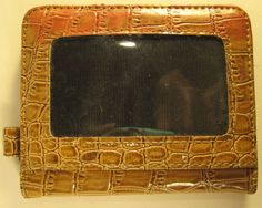 Women Purse Faux Patent Leather Alligator Design Tan.  #Unbranded #Clutch