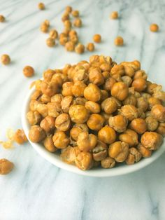 Crispy Baked Chickpeas with Truffle Salt - The Lemon Bowl